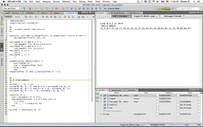 Erlang on MIPS-based PIC32