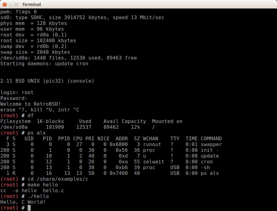 RetroBSD-on-MIPS